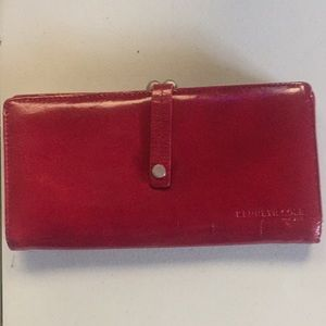 Kenneth Cole red leather wallet